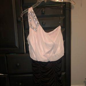 semi formal form fitting dress